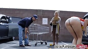 Blonde college girl sells her car and fucked by thief