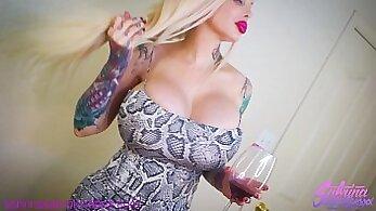 Amazing busty blonde big ass pov on snapchat