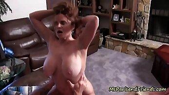 stepmom give cock a quick rubdown