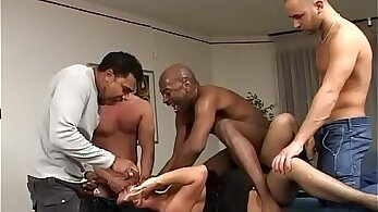 Brunette black cab driver abusing hubby