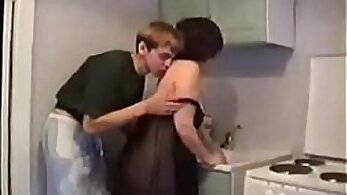 Mother and son fuck fuck in the garden