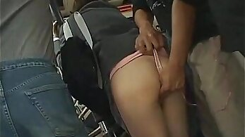 Boarding schoolgirl gets blowjob and cum in the bus