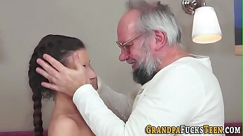 Petite slut sucks big grocery jack off