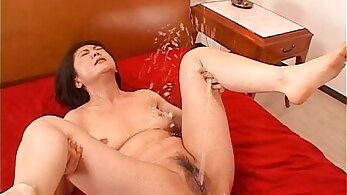 Breathtakingly hot and japanese girl Rie Maegler plays with her pussy