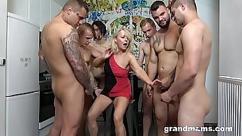 amateur orgy cumshot on white skirt