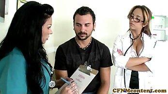 CFNM nurse and submissive masterbation