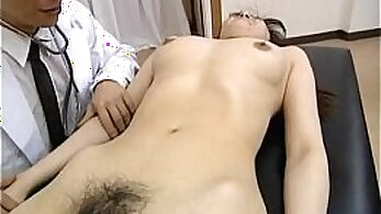 Asian hairy chick fucked by her doctor