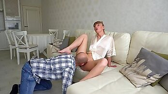 British mistress sex slave pussy squirt in the closet