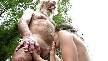 Grandpa Watches Dean and a Horny Whore Swap Swallows