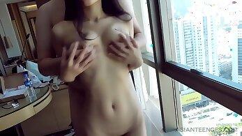 Petite amateur slut pussyworshiped after sex