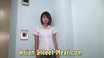 Asian masseand gets fucked in the ass