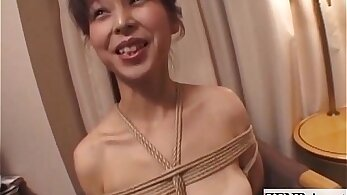 Subtitled Japanese bondage girl with see more in EXTREME porn