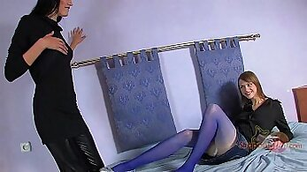 Bad Girls Little Lucky Guy Being Mouth Fucked