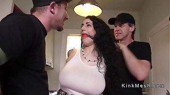 Busty Victoria Cruz gets assfuck slave