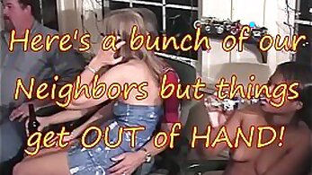 gangbang alone at home party on coast
